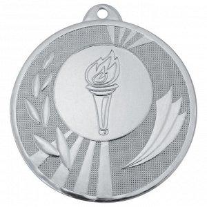 Медаль факел 50 мм серебро DC#MK285b-S
