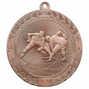 Медаль хоккей 50 мм бронза DC#MK184c