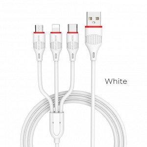 BOROFONE 3in1 BX17 Enjoy зарядный кабель Apple / Androind / Type-C