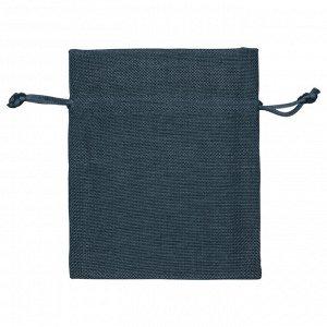 Мешочек подарочный, искусственный лен, малый, темно-синий арт.995...