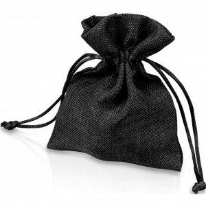 Мешочек подарочный, искусственный лен, малый, черный арт.995015