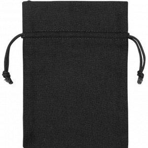 Мешочек подарочный, лен, средний, черный арт.995008