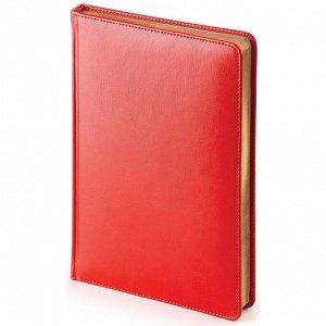 Ежедневник недатированный красн,А5,145х205мм,136л, Sidney NEBRASK...
