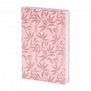 Ежедневник недатированный розовый, А5, 160л., интегр. Leaves AZ85...