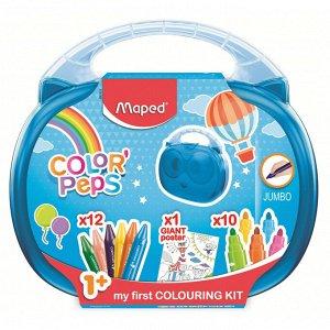 Набор для рисования Maped COLOR'PEPS JUMBO: раскр,12 мелк, 1...