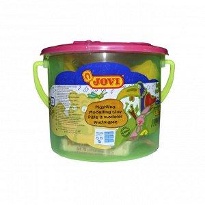 Пластилин JOVI, 6 цв.,300г, растительный,формочки,стеки,клеенка, ...