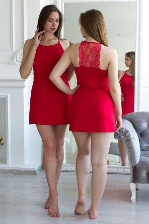 Ночная сорочка из вискозы Лили Нуар красный