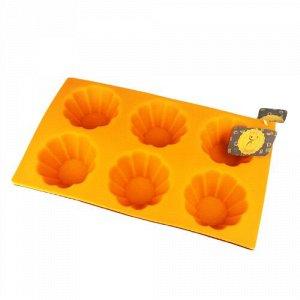 Форма для кексов, 6 ячеек, силикон, MULTICO, 40 х 30 х 180 мм, 1/200
