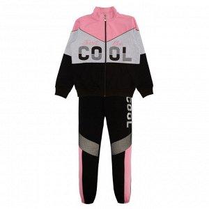 Комплект для девочки (толстовка, брюки) грязно-розовый