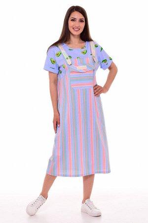 Платье женское 4-088б (голубой)