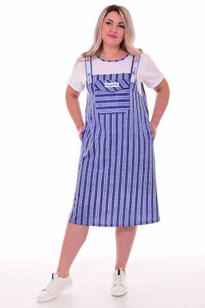Платье женское 4-083 (голубой)