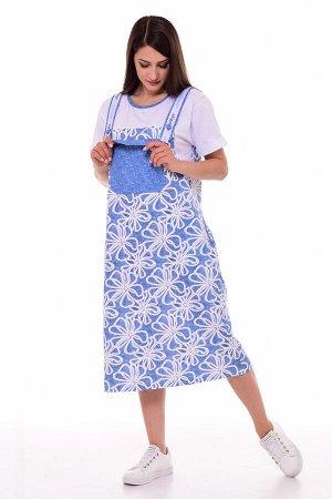 Платье женское 4-089а (голубой)