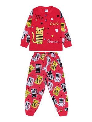 Пижама для девочки малиновый