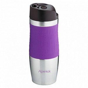 Термокружка вакуумная 400 мл Alpenkok AK-04004A фиолетовая