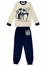 Пижама для девочки молочный