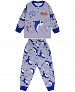 Пижама для мальчика серый меланж