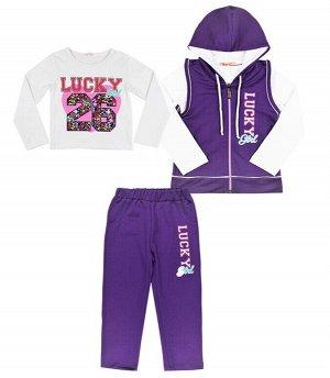 Костюм для девочек BK1281K фиолетовый