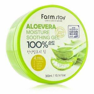 Гель для лица и тела FarmStay Moisture Soothing Gel Aloe Vera, 300мл