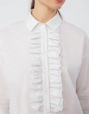 Белая блузка на 48 размер.
