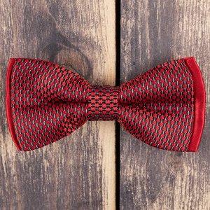 Бабочка Цвет: красный. Комплектация: бабочка. Состав: микрофибра-100%. Длина, см: 12. Ширина, см: 6. Фактура: узор.