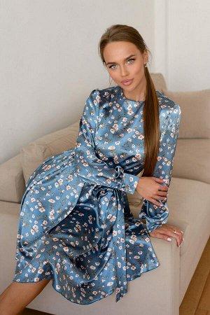 Платье Платье из искусственного шёлка, желанная вещь для каждой модницы. Эта модель удовлетворит самый взыскательный вкус, оно выглядит просто роскошно! Материал подарит вам прохладу в жаркие дни, пер