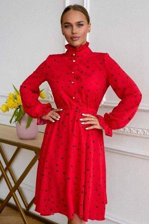 Платье Платье в романтическом стиле с высоким воротником делает отсылку к модному неоромантизму, спасет вас от весенней прохлады и подарит непревзойденно женственный образ. Широкий рукав на резинке с