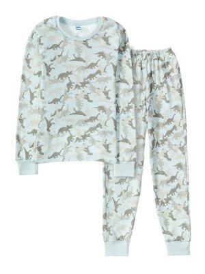 """Пижамы для мальчиков """"Dino gray-2"""" (Серый"""