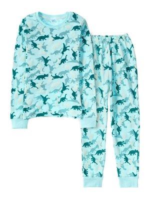 """Пижамы для мальчиков """"Dino light blue-2"""" (Голубой,"""