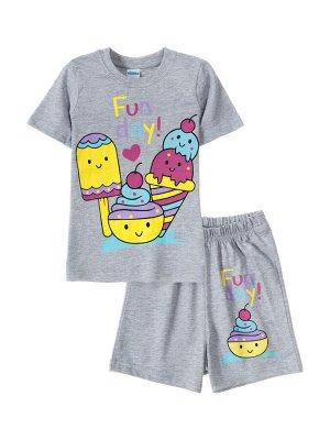 Комплекты для девочки Sunny walk (Серый меланж,