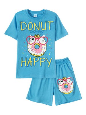 """Комплекты для девочек """"Donut happy"""" Голубой,"""