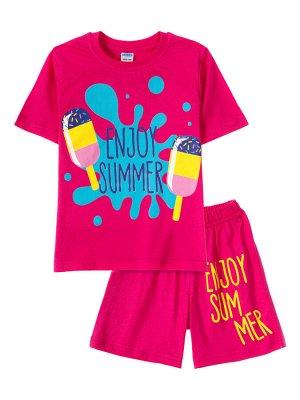 """Комплекты для девочек """"Boom summer"""" (Малиновый"""