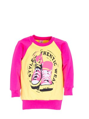 """Толстовки для девочек """"Style"""" (Желтый+малина,"""