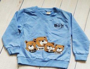 Кофта детская для мальчика. Цвет голубой.
