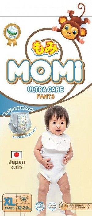 MOMI Ultra Care подгузники-трусики XL (12-20 кг). 38  шт НОВИНКА!