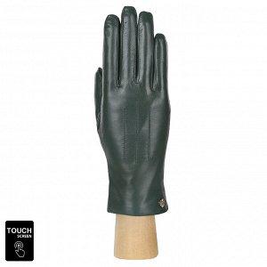 Перчатки, натуральная кожа, Fabretti S1.41-15 green
