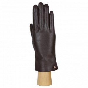 Перчатки, натуральная кожа, Fabretti 12.77-2 chocolat
