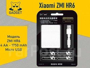 Комплект Xiaomi ZMI HR6 Зарядное устройство и аккумуляторы ZI5 AA 4 шт 1750 Mah PB401