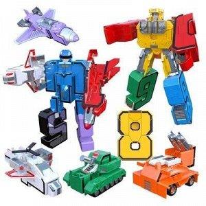 Цифры-Трансформеры Трансботы набор 10 в 1