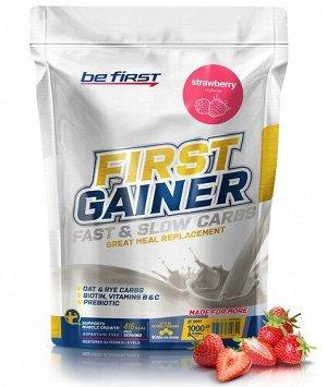 Гейнер со вкусом клубники First Gainer strawberry Be First 1000 гр.