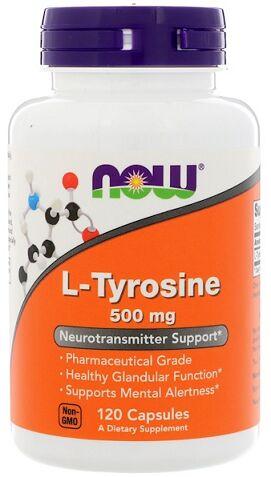 Аминокислота Тирозин L-Tyrosine 500 mg NOW 120 капс.