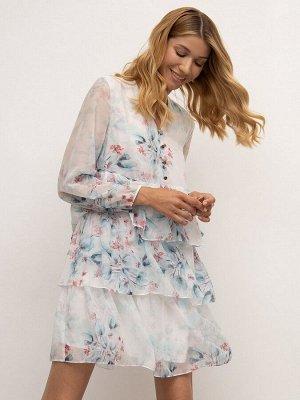 Шифоновое платье PL1171/geranium