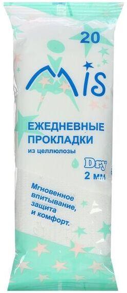 Ежедневные гигиенические прокладки из целлюлозы Драй 1 капля 20 шт
