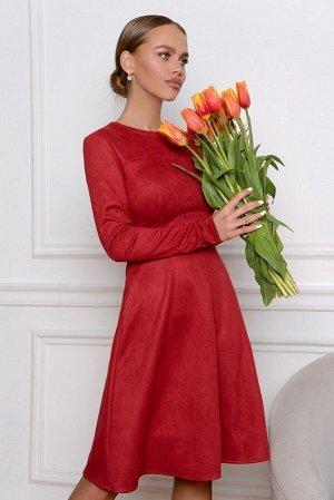 Платье Дорогое вино и аристократичные рубины. Это модель платья для женщин, знающих себе цену, элегантных и притягательных. Состав: замша. Кокетка по линии груди расставляет правильные акценты, длинны