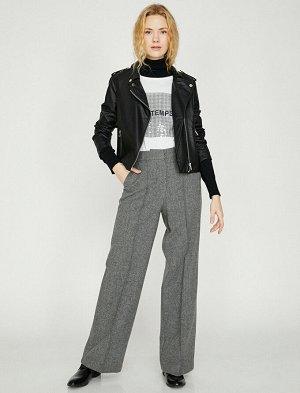 брюки Материал: %53 Полиэстер, %27 Akrilik, %20 Y?n Параметры модели: рост: 176 cm,грудь: 82,талия: 60,бедра: 90 Надет размер: 36