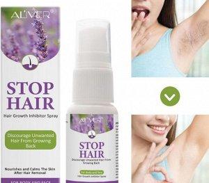 Лосьон-спрей для замедления роста волос ALIVER, 20 мл