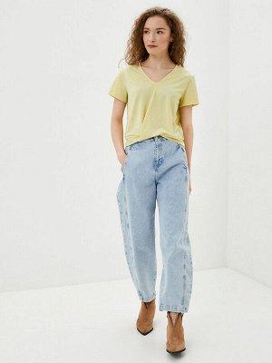 футболка / желтый в полоску с люрексом