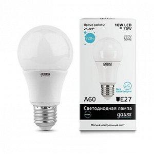 Лампа Гаусс LED Elementary A60 10W E27 4100K