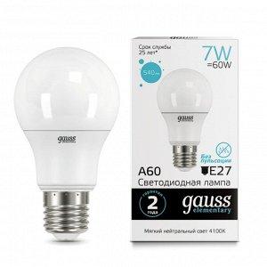 Лампа Гаусс LED Elementary A60 7W E27 4100K