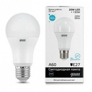 Лампа Гаусс LED Elementary A60 20W E27 4100K