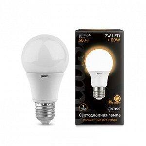 Лампа Gauss LED A60 E27 7W 2700K